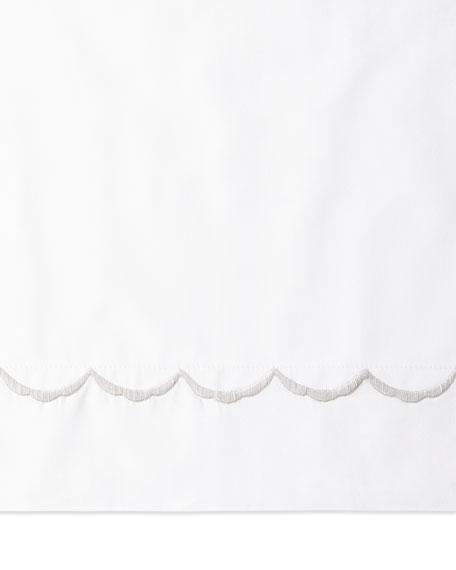 European Scallops Embroidered Sham