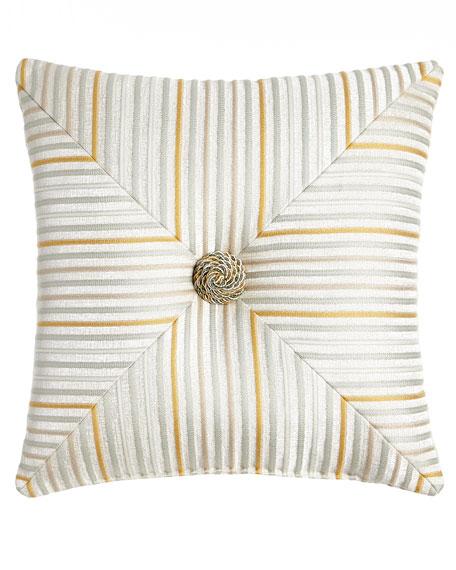 """Blossom Mitered Stripe Pillow, 18""""Sq."""