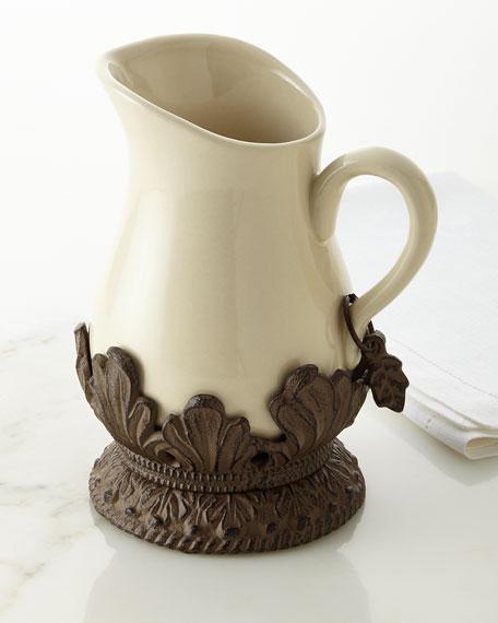 Cream Ceramic Pitcher