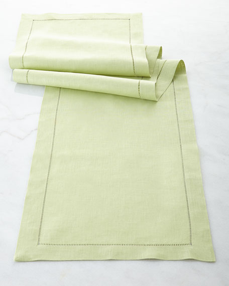 SFERRA Hemstitch Table Runner, 15