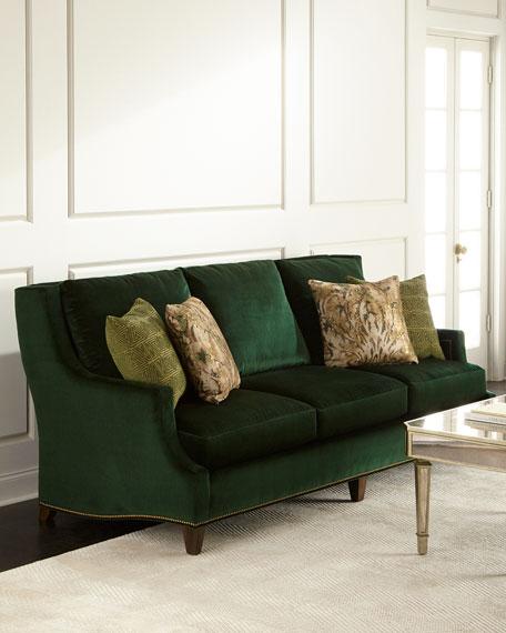 Exceptional Massoud Marlena Emerald Sofa