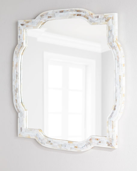 White Mother Of Pearl Mirror Zef Jam
