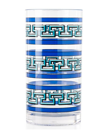 Blue Mykonos Acrylic Highball Glass