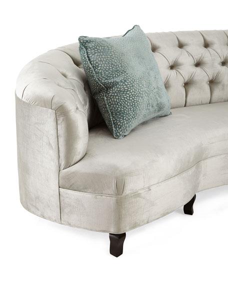 """Mansfield Monroe Tufted Sofa 114"""""""