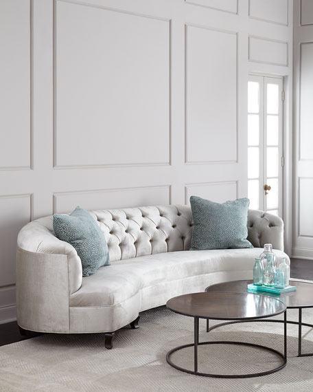 Haute House Mansfield Monroe Tufted Sofa 114