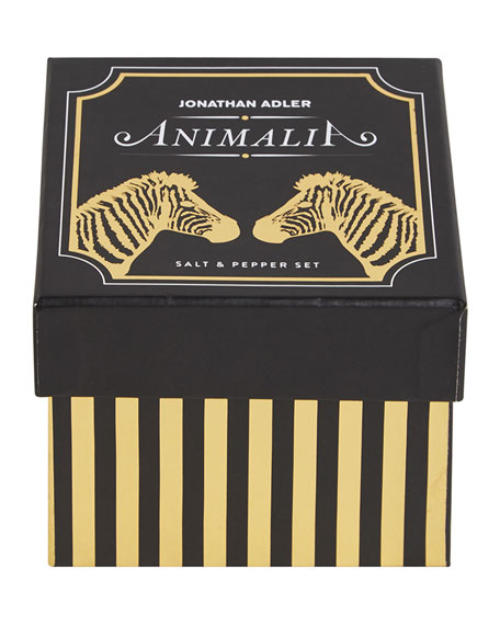 Zebra Animalia Salt & Pepper Shakers