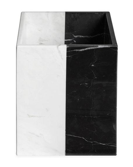 Jonathan Adler Canaan Marble Wastebasket