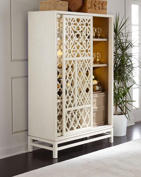 Karis Hardwood Wine Cabinet