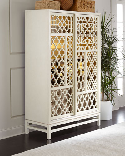 Karis Hardwood Wine Cabinet