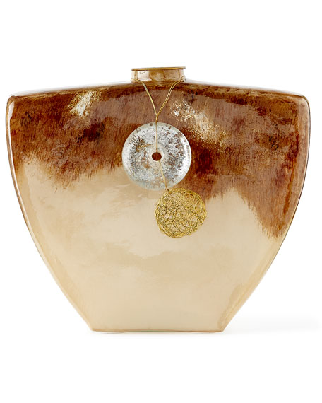 Horizontal Terra Vase with Hanging Ornament
