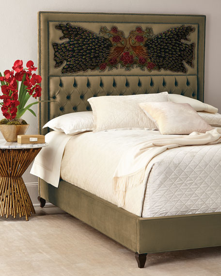 Peacock Sage Bed, King