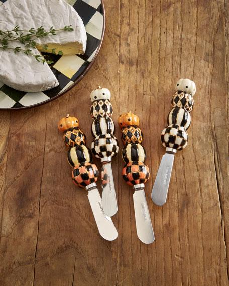 Stacking Pumpkins Canape Knives, Set of 4