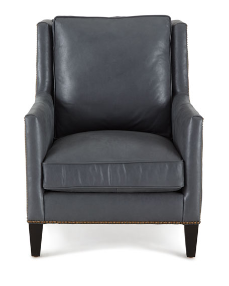 Beatrix Diamond-Tufted Leather Chair