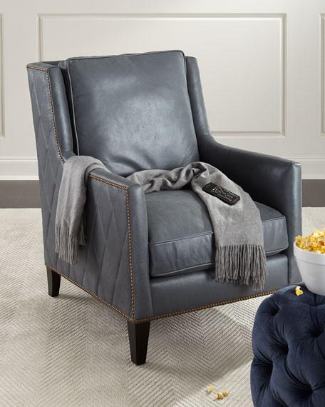 Bernhardt Beatrix Diamond Tufted Leather Chair