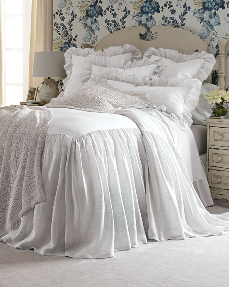 "30""L Queen Savannah Skirted Coverlet"