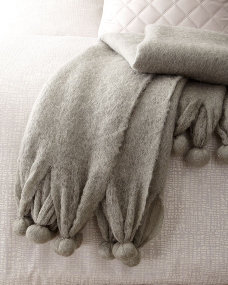 Pompom Throw Blanket