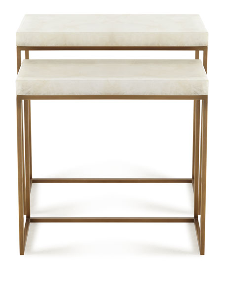 Taylor Brass Nesting Tables