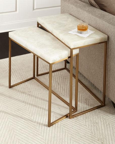 Taylor Brass Nesting Tables