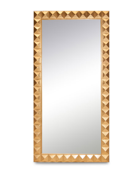Badgley Mischka Home Ilsa Gold Leaning Mirror