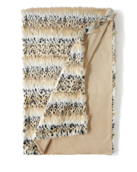 "Faux-Fur ""Bobcat"" Throw"