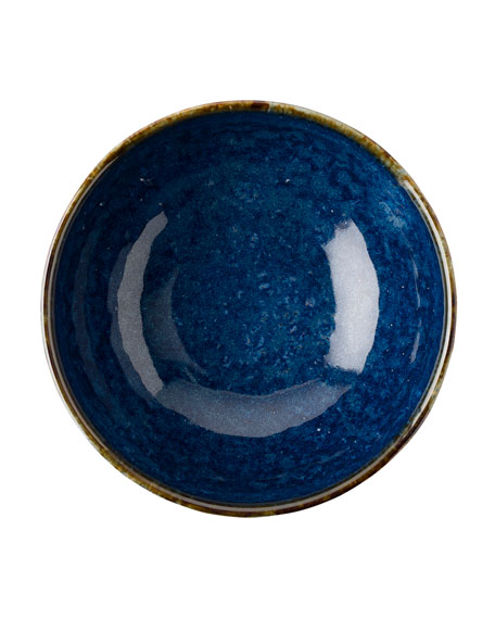 Puro Dappled Cobalt Cereal/Ice Cream Bowl