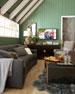 "Madeline Tufted Leather Sofa 96"""