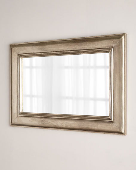 Silver Clad Rectangular Mirror