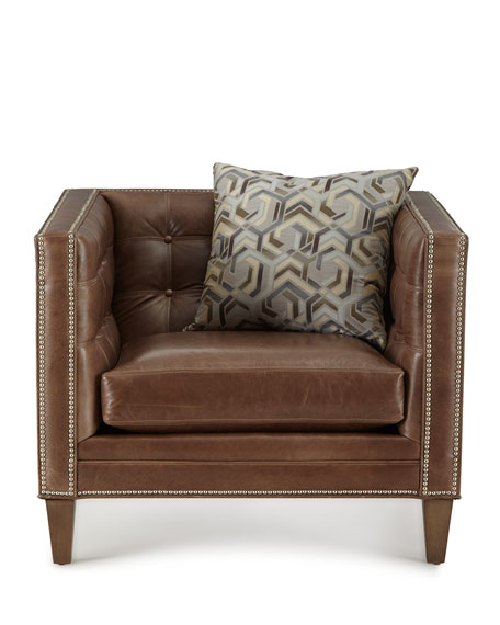 Jagger Tufted Leather Chair