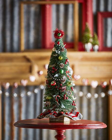 MacKenzie-Childs Highland Nostalgia Small Tabletop Christmas Tree