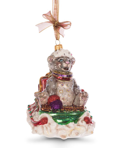 Mouse on Sled Ornament