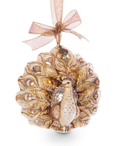 Fantail Peacock Ornament