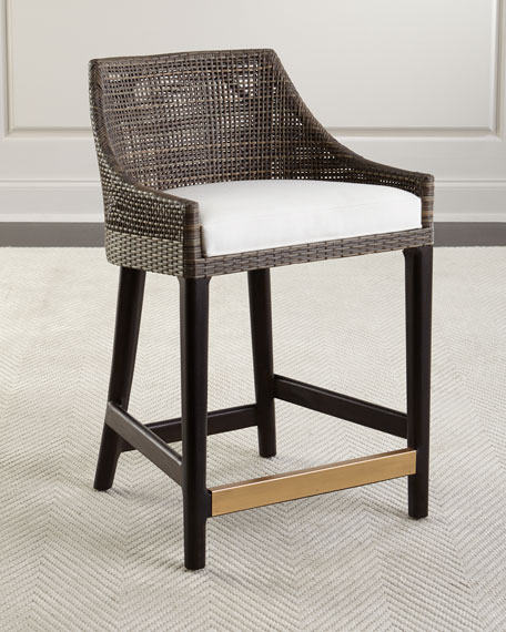 Synthetic Rattan Stool