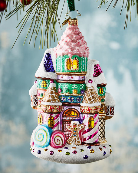 Christopher Radko Candy Castle Christmas Ornament