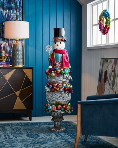 Playful Brights Collection Snowman Topiary, 57