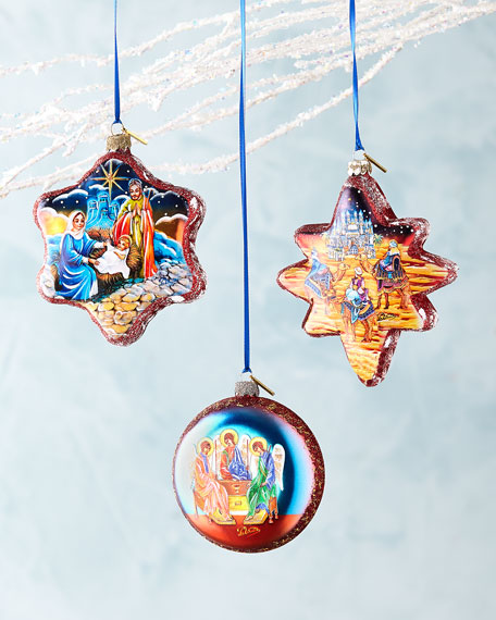 Nativity Ornaments, Set of 3