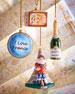 Paris Christmas Ornaments, Set of 4