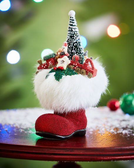 Santa Boot with Toys Collectible