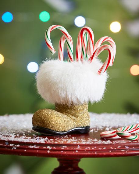 Golden Santa Boot Collectible