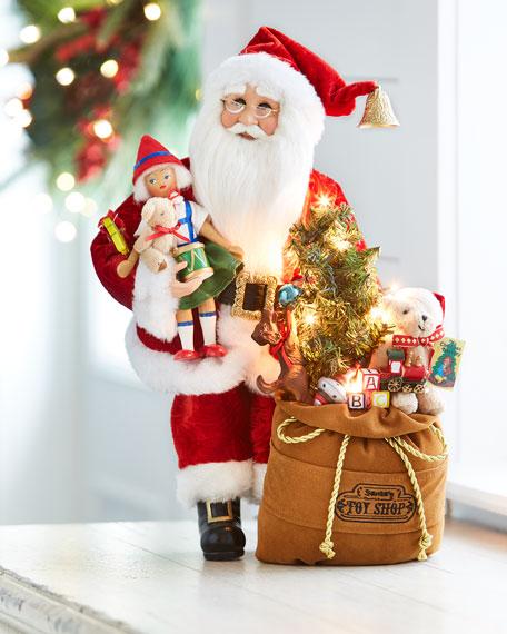 Toys Galore Lighted Santa