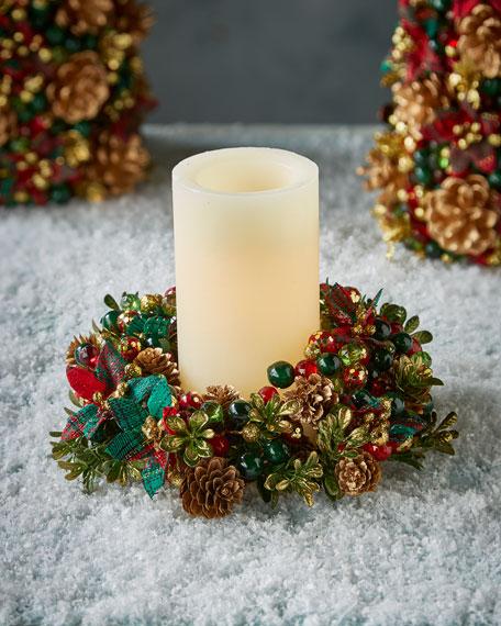 Tartan Cheer Candle Ring