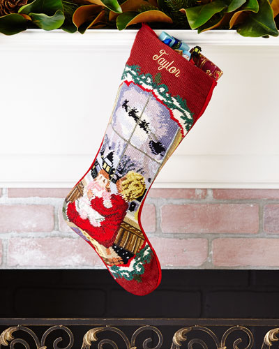 Baby Girl Needlepoint Stocking