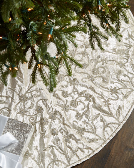Gold & Glitter Collection Velvet Tree Skirt, 60""