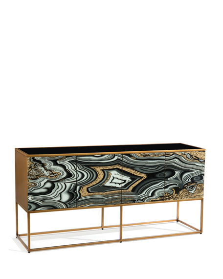 Nicola Painted-Agate Console