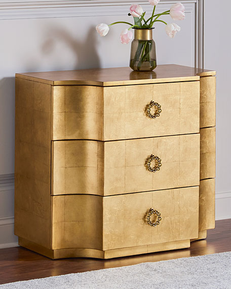 Caspian Gold Leaf Chest