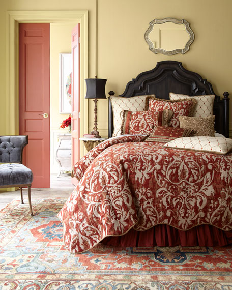European Marguerite Damask Sham