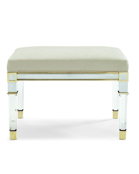 Silver and Gold Acrylic Leg Bench
