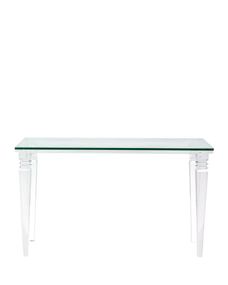 Christelle Acrylic Console Table