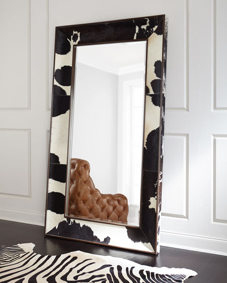 Orlana Hairhide Floor Mirror