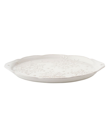 Berry & Thread Snowfall Whitewash Platter