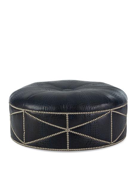 Shipley Leather Ottoman